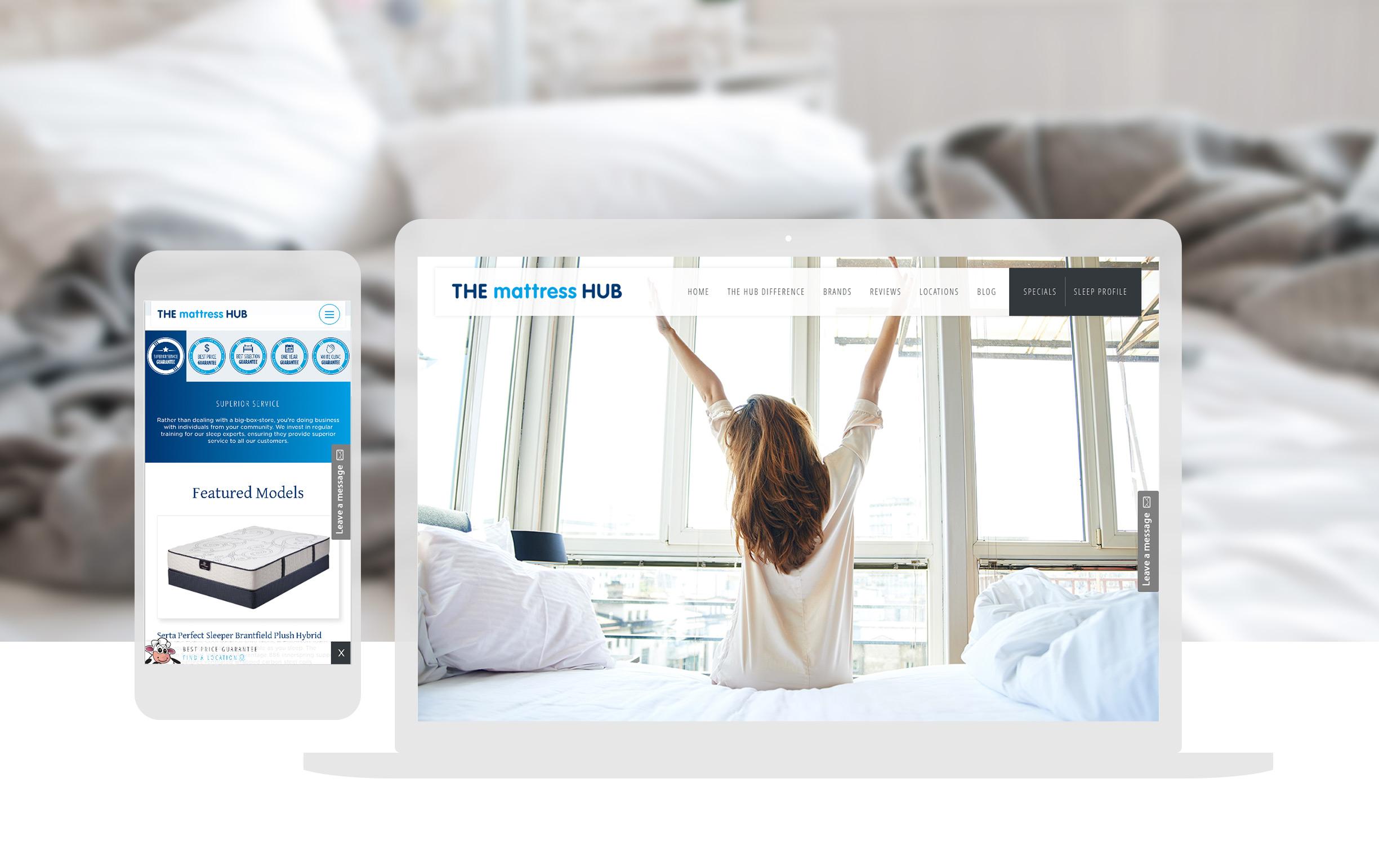 The Mattress Hub Website Design & Digital Marketing