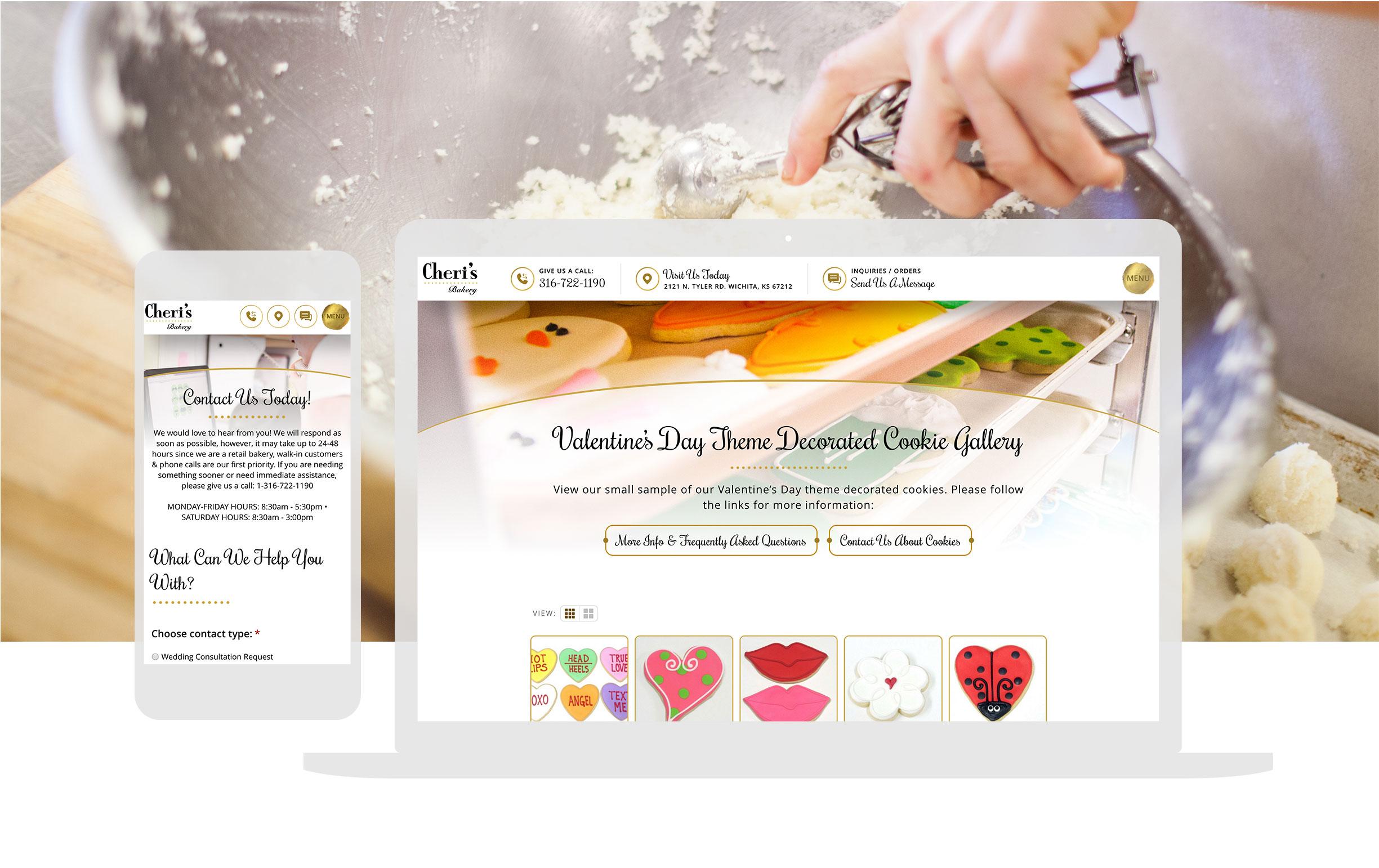 Custom Bakery Responsive Website Design