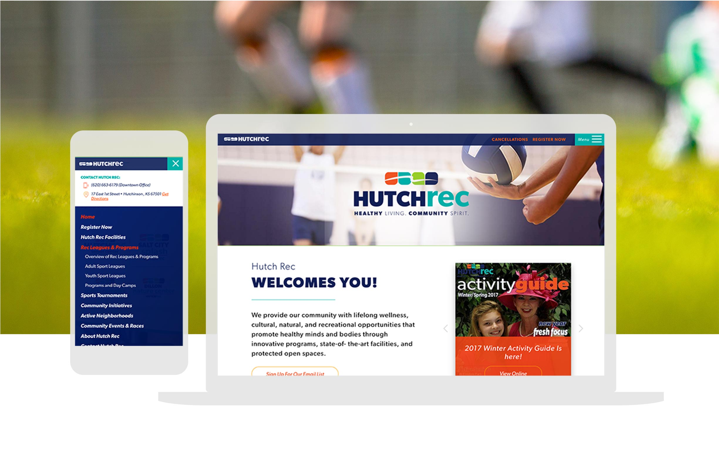 Hutch Rec Custom Website Design Cassandra Bryan Design