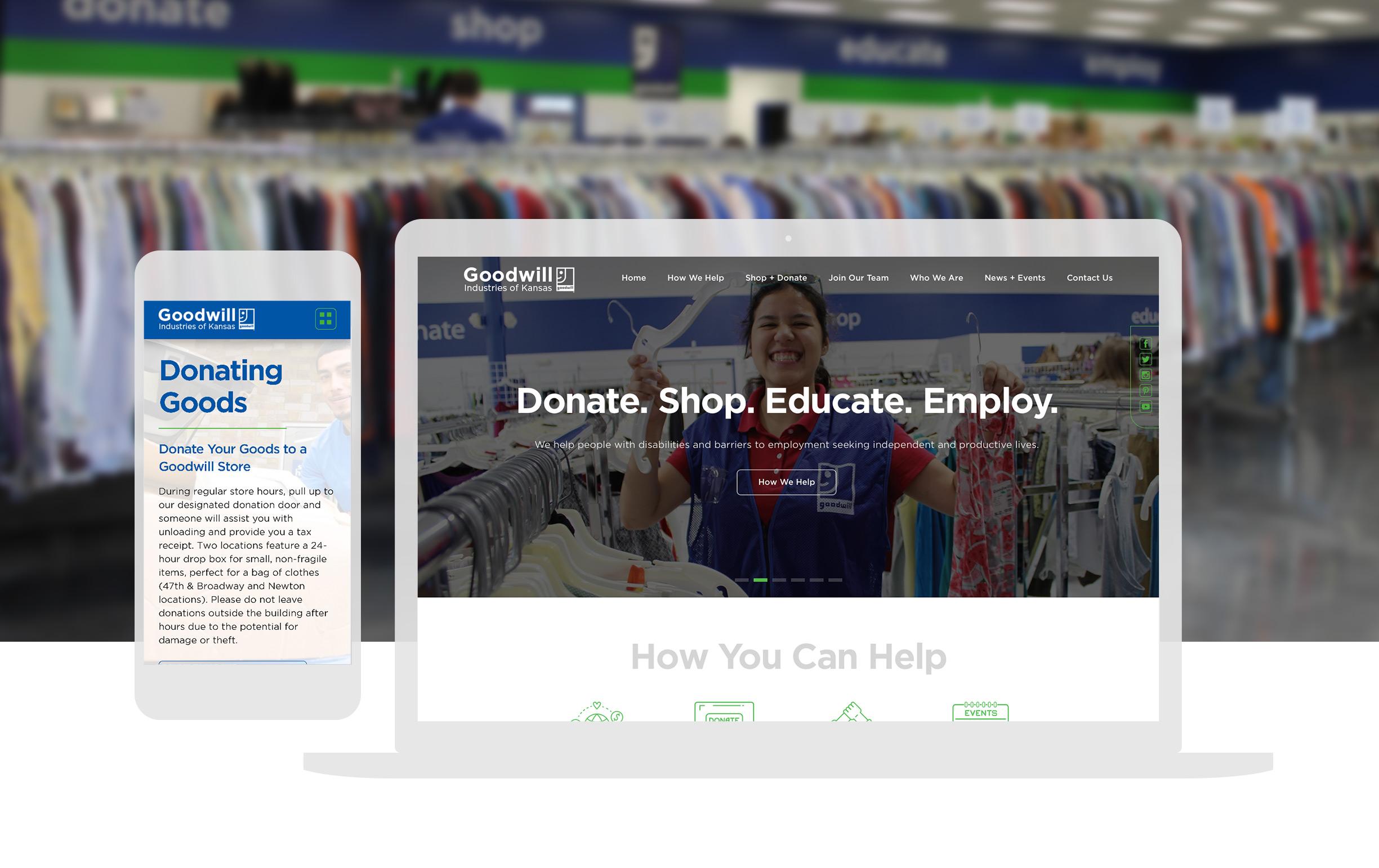 Cassandra Bryan Design Wichita Kansas Website Design Development Goodwill Ks Full Width