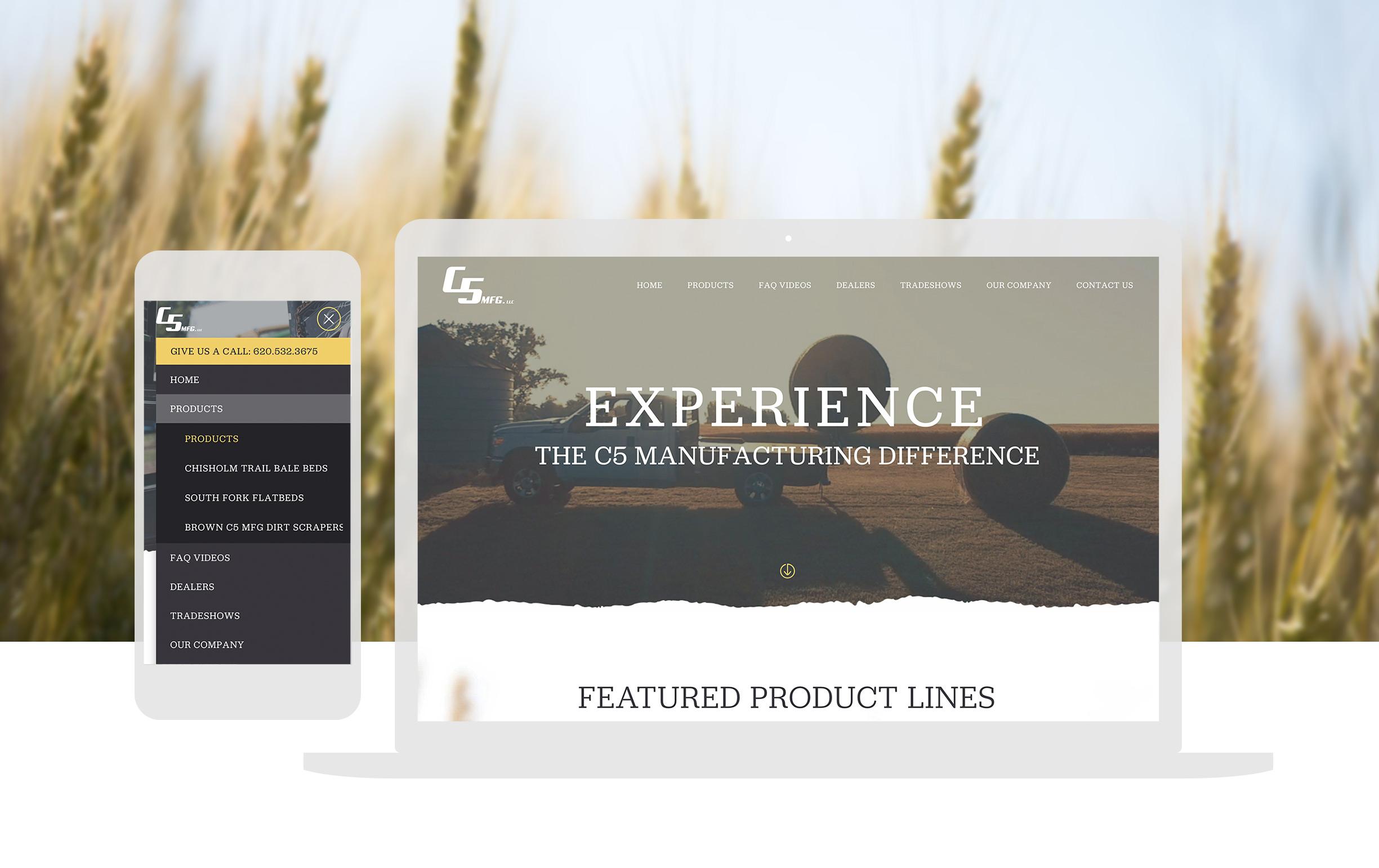 Cassandra Bryan Design Wichita Kansas Web Design Developement C5 Manufacturing Full Width Image