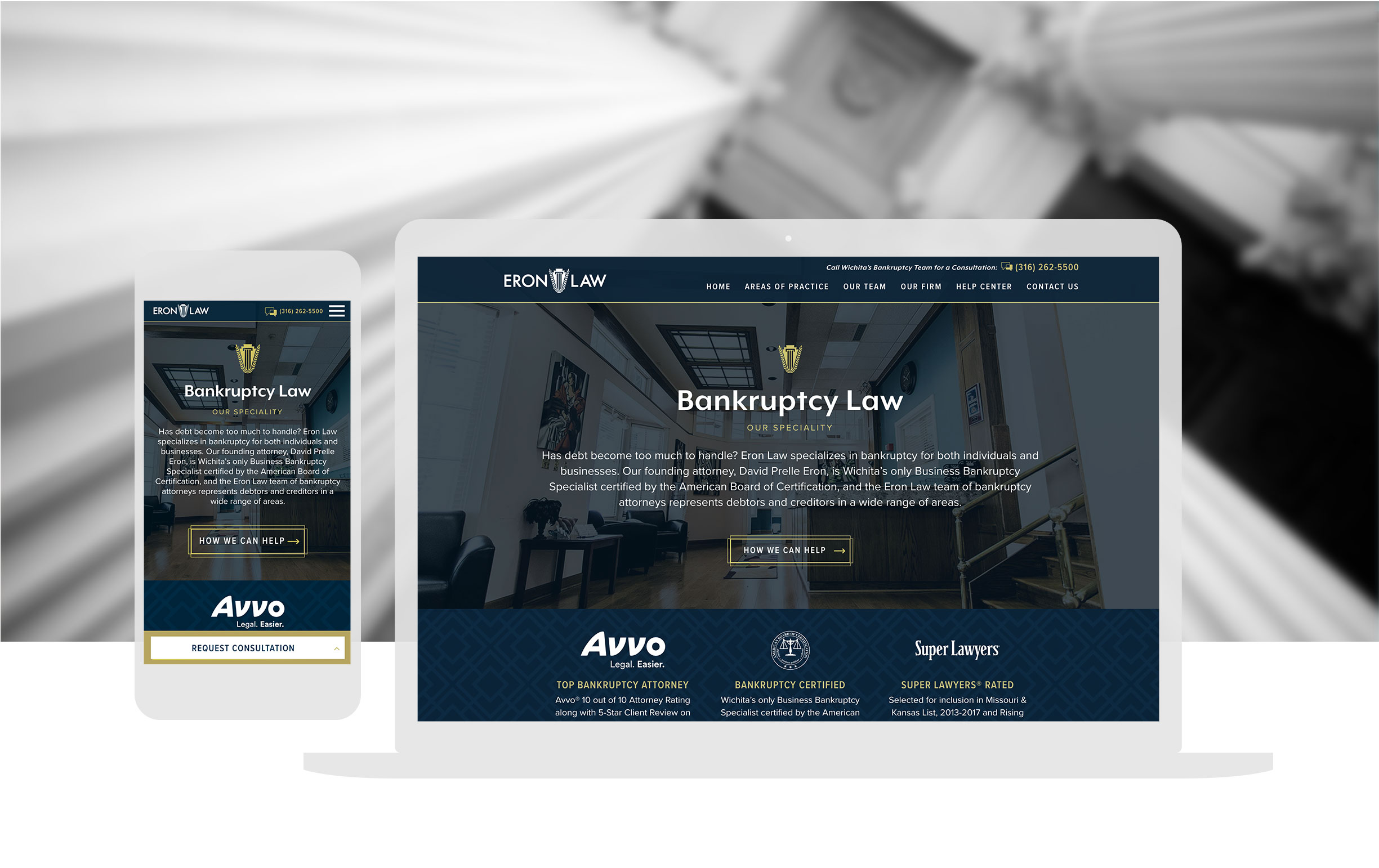 Bankruptcy Law Website Design Cassandra Bryan Design 5