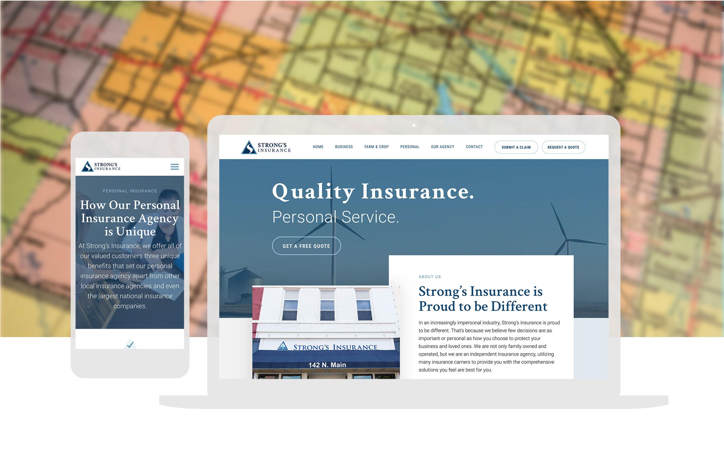 Insurance Website Design Cassandra Bryan Design 2
