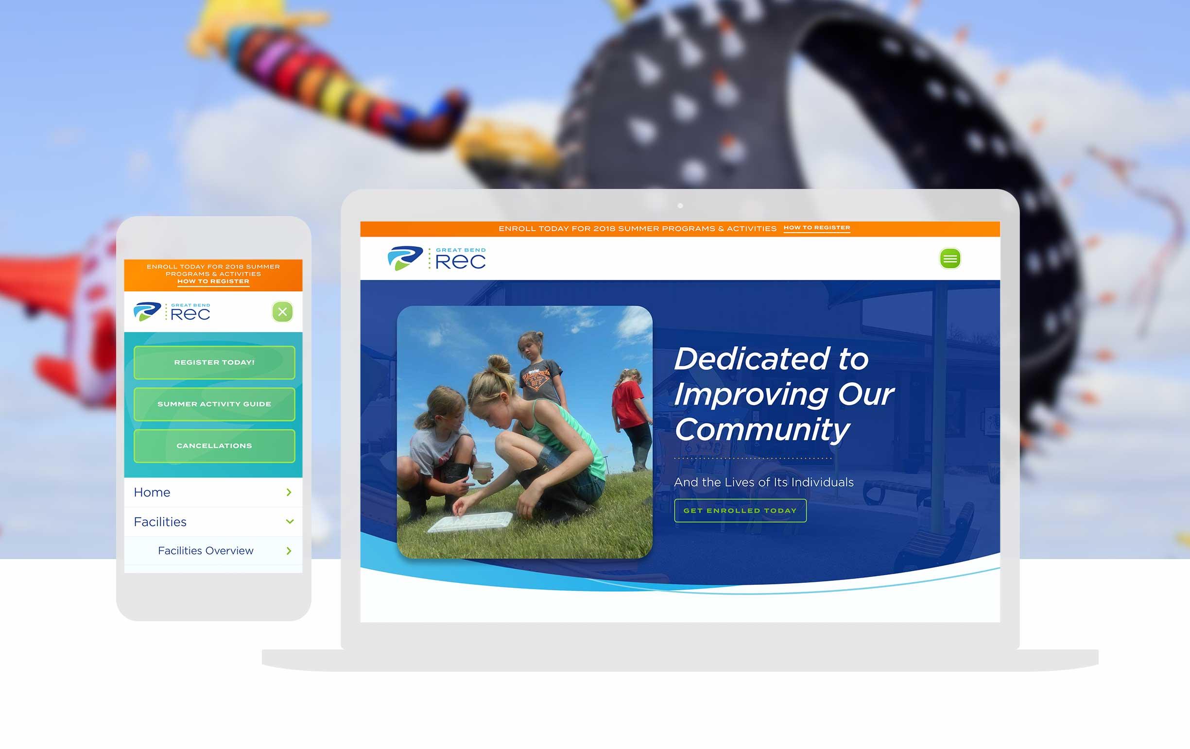 Recreation Website Design_Cassandra Bryan Design_Great Bend Rec 2