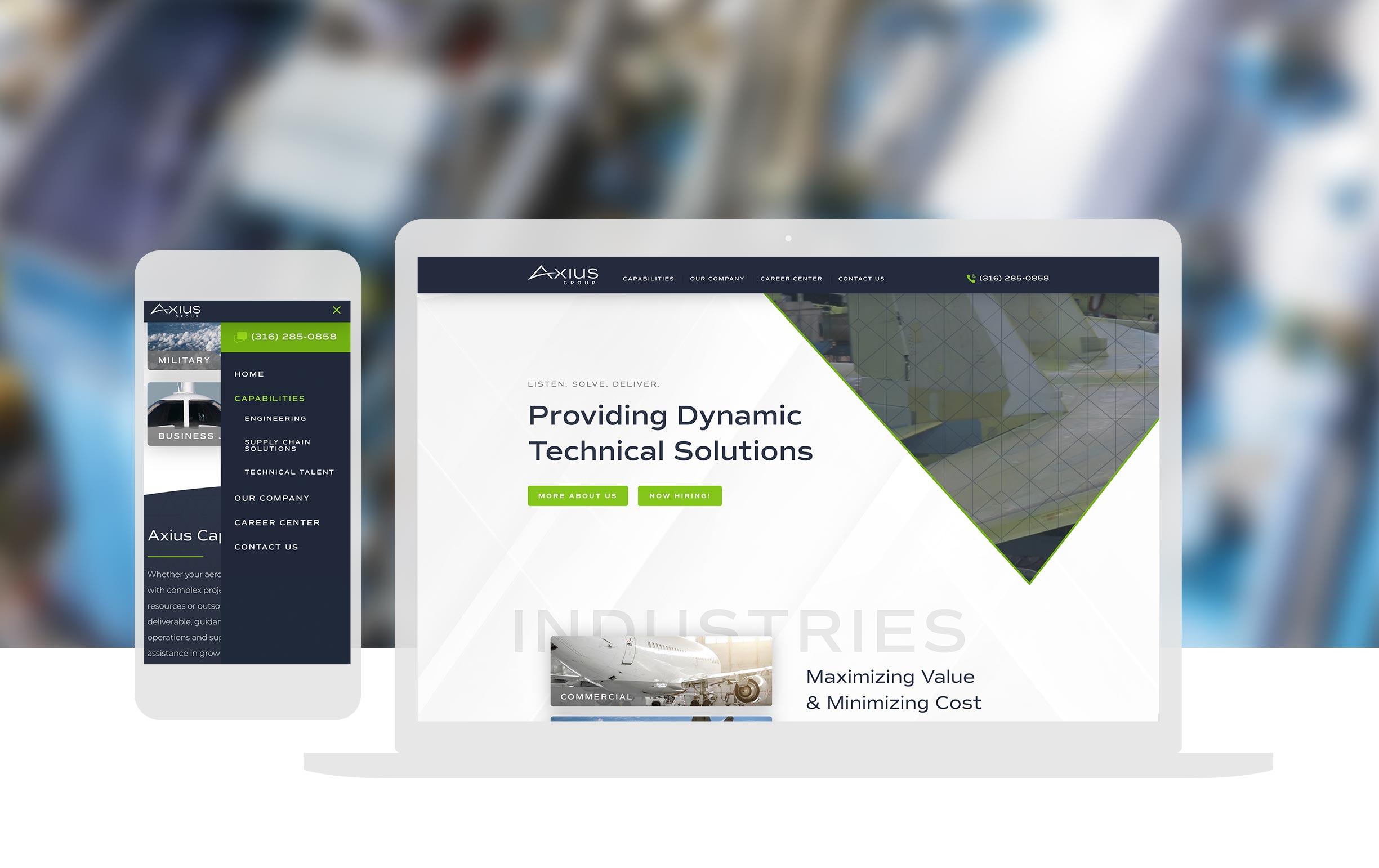 Axius Group_Aviation Custom Website Design_Cassandra Bryan Design_3