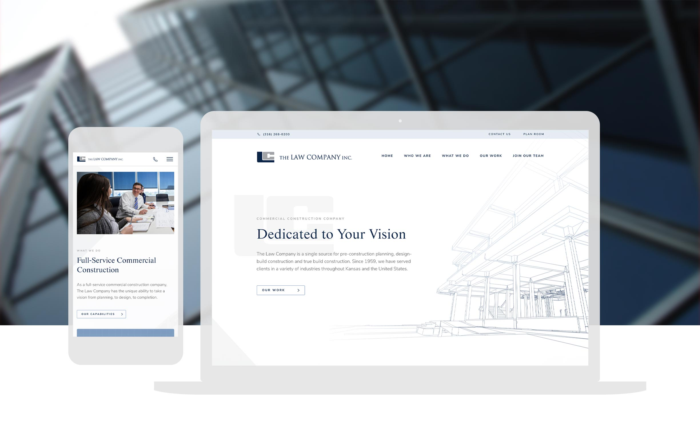 Law Company Pre Construction Website Design Cbd