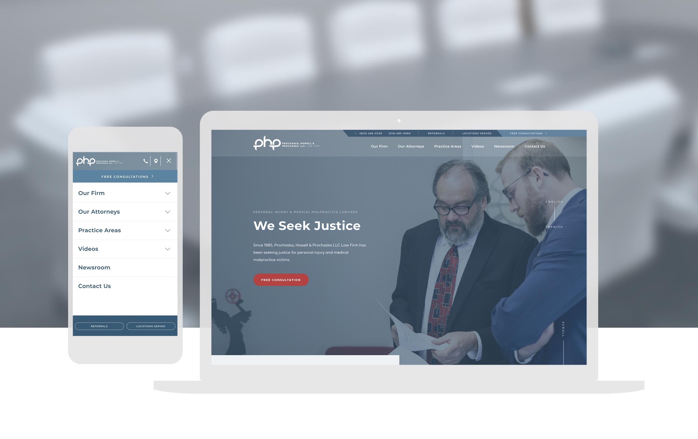Php Attorneys Website Design Wichita Ks