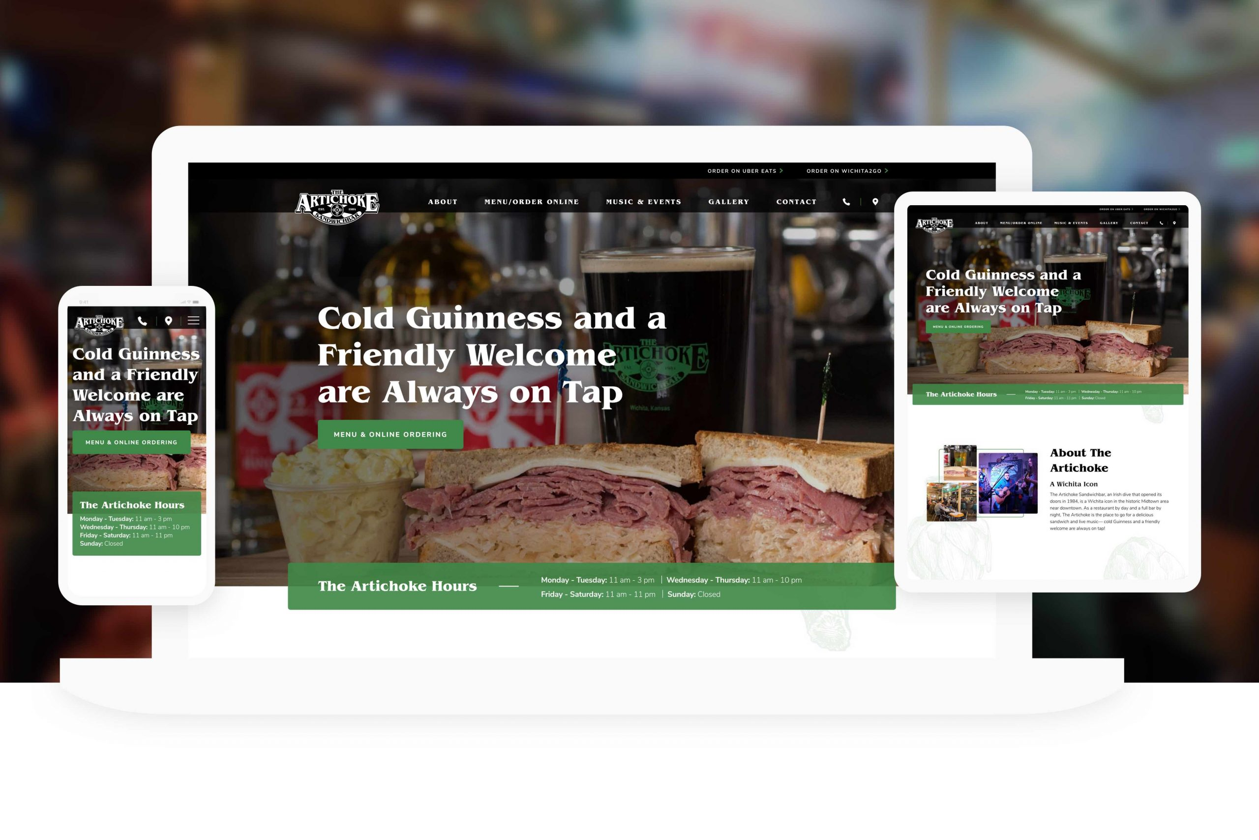 Website Design Wichita Ks Artichoke Bar Food