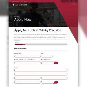 Trinity Precision Website Design Application