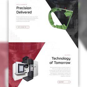 Trinity Precision Website Design Homepage