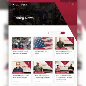 Trinity Precision Website Design Newsroom