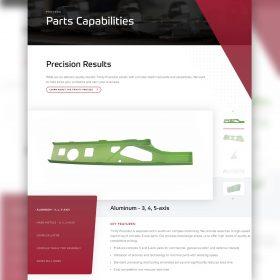 Trinity Precision Website Design Parts Capabilities