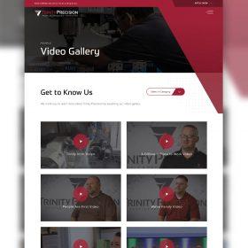 Trinity Precision Website Design Video Gallery