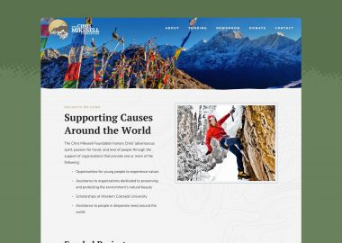 Foundation Non Profit Website Design Cassandra Bryan Design 5