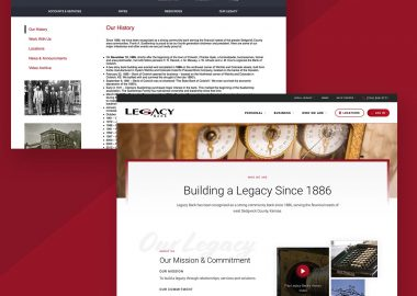 Custom Bank Web Design Cassandra Bryan Design
