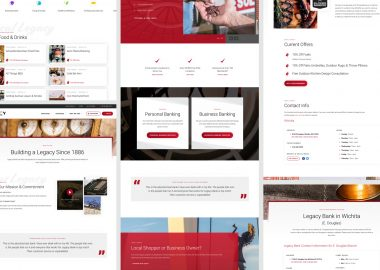 Custom Bank Website Design Elements Cassandra Bryan Design