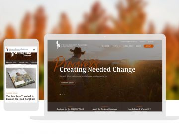 Agriculture Non Profit Custom Website Design Cassandra Bryan Design 2