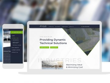 Axius Group Aviation Custom Website Design Cassandra Bryan Design 3
