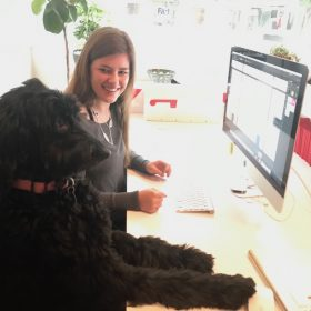 Our Intern Maddie With Bella