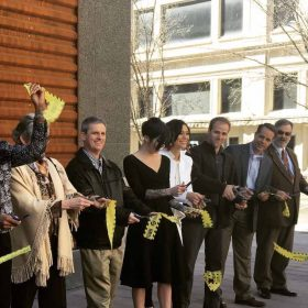 Ribbon Cutting Of The CorTen