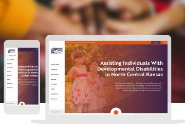 DPOK Non Profit Disability Services Custom Website Design Cassandra Bryan Design 2