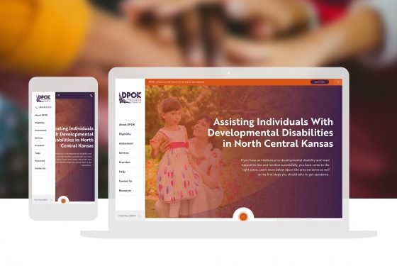 DPOK Non Profit Disability Services Custom Website Design Cassandra Bryan Design 2
