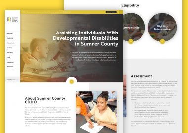 DPOK Non Profit Disability Services Custom Website Design Cassandra Bryan Design 4
