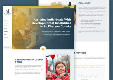 DPOK Non Profit Disability Services Custom Website Design Cassandra Bryan Design 5