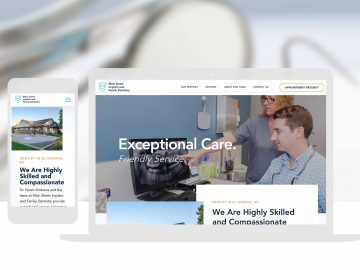 Dental Website Design Cassandra Bryan Design Custom Website Development 2