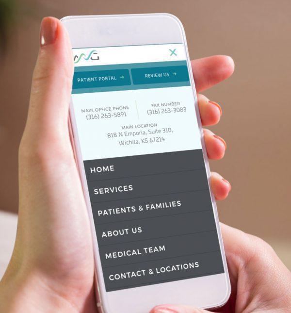 Healthcare Website Design Cassandra Bryan Design 2