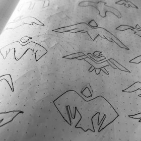 Mcalister Logo Design Sketches
