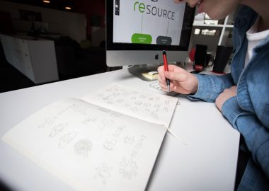 RESource Logo Design Sketches