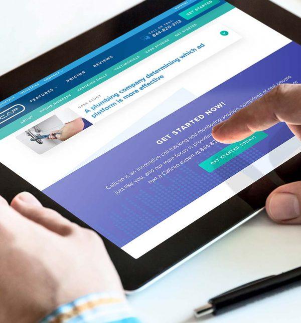 Call Services Website Design Cassandra Bryan Design Callcap 3