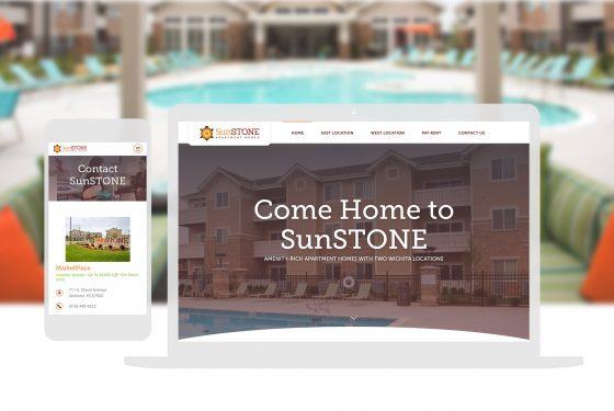 Sunstone Apartments Fullwidth Mockup