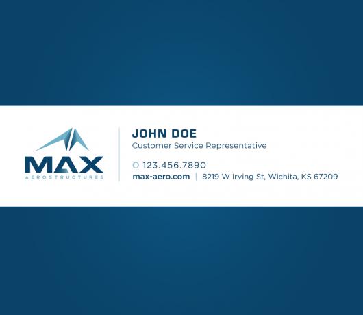 MAX Aero Email Signature EXAMPLE 01