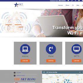 SKT Website Homepage (Before Cb{d})