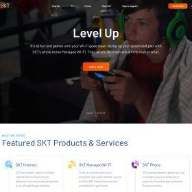 SKT Website Homepage By Cb{d} (After)