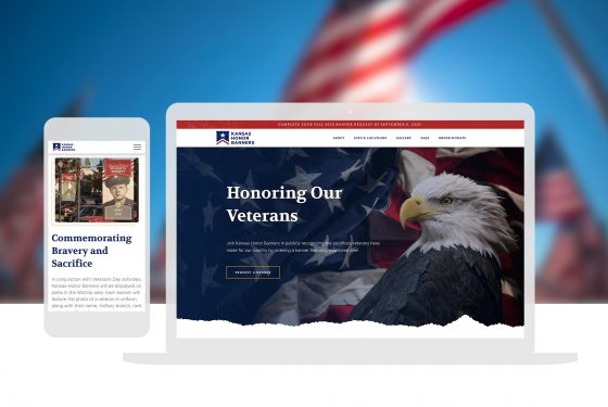 Cassandra Bryan Design Kansas Honor Banners Web Design