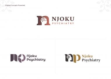 Njoku Psychiatry Logo Brand Design