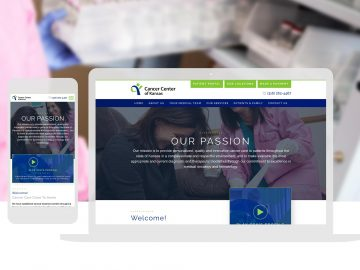 Cancer Center of Kansas-Custom Website Design_Cassandra Bryan Design