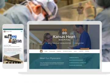 Kansas Heart Hospital-Custom Website Design_Cassandra Bryan Design