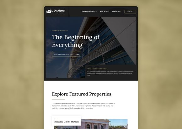 Commercial Real Estate Website Design Homepage New