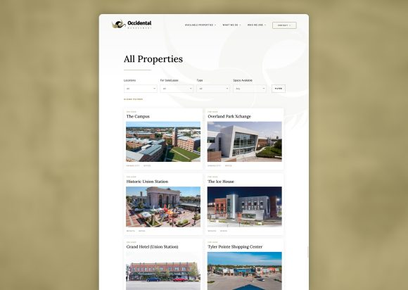 Commercial Real Estate Website Design Property Listing New