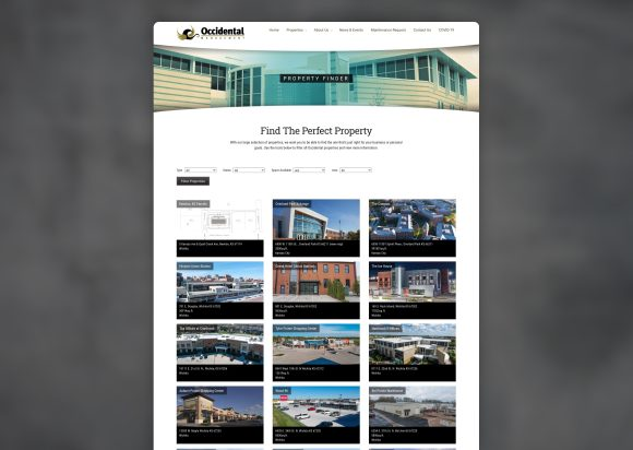 Commercial Real Estate Website Design Property Listing Old