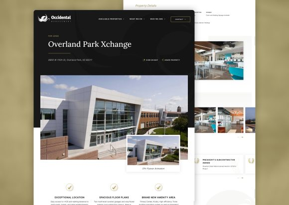 Commercial Real Estate Website Design Property Page New