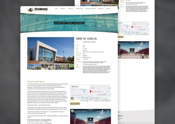 Commercial Real Estate Website Design Property Page Old
