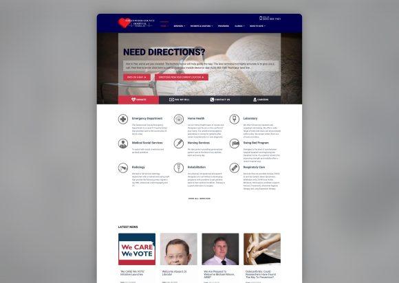 Hospital Website Re-Design before-after_Homepage-Old