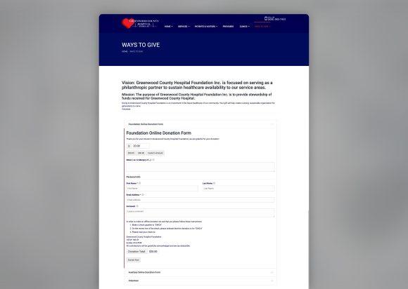 Hospital Website Re-Design before-after_Donate-Old