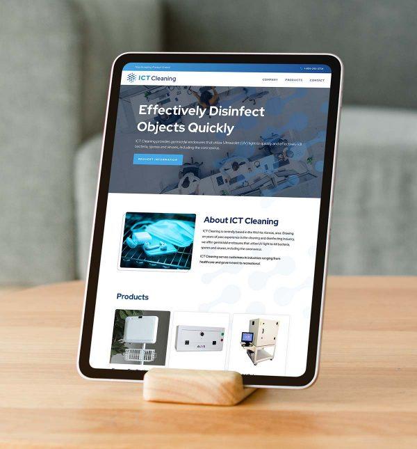 ICT Cleaning Website Design and Development_Cassandra Bryan Design-2