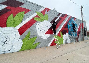 Cassandra Bryan Design Building Mural By Brady Scott Creative Progress1